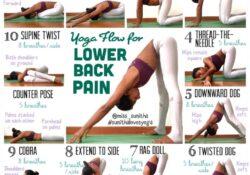 basic back pain yoga stretches photos