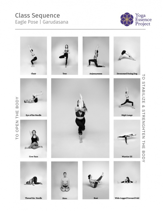 basic eagle pose sequence pictures