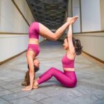 Basic Easy Yoga Poses For Two People Photo