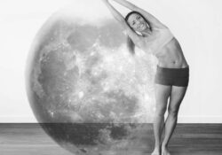 basic half moon pose bikram pictures