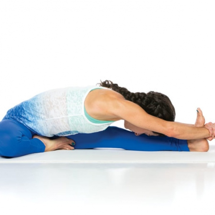 basic janu sirsasana yoga photo