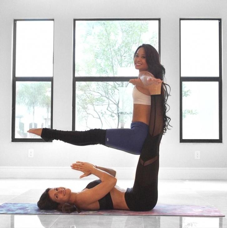 basic partner yoga poses easy images