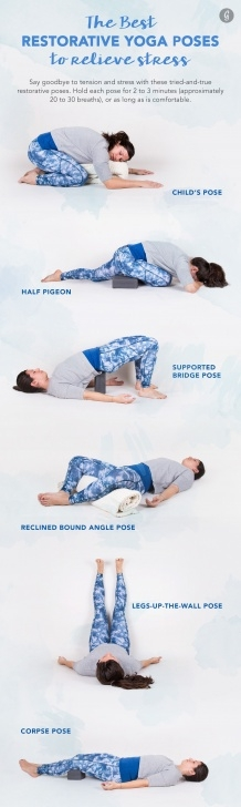 basic restorative poses in yoga picture