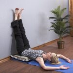 Basic Yoga Poses Legs Up The Wall After Running Photo