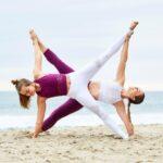 Basic Yoga Poses With 2 People Image