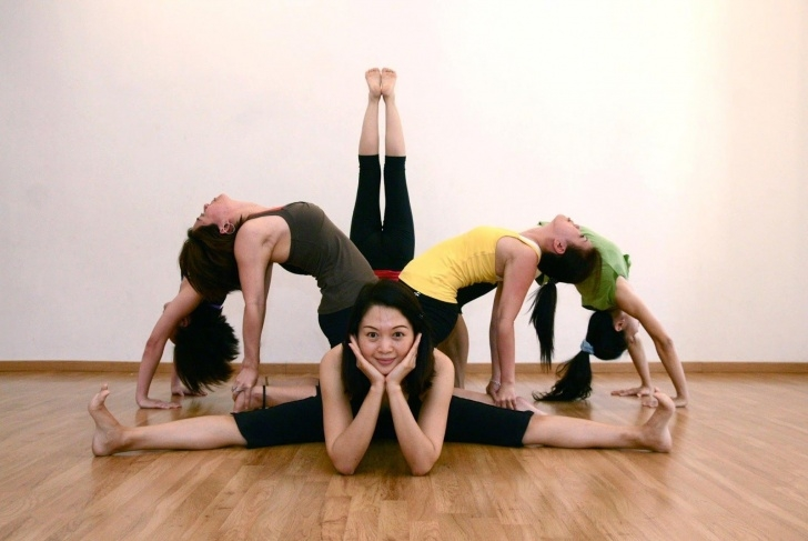 best easy group yoga poses image