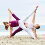 Best Funny Yoga Poses For 2 Photos