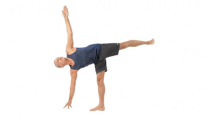 best half moon pose in yoga image