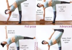 best half moon pose variations pictures