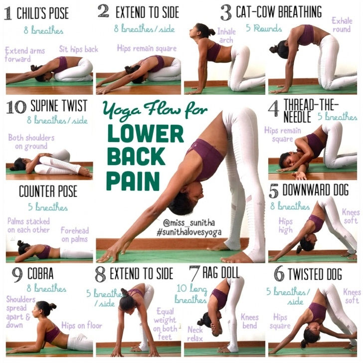 best lower back pain yoga exercises pictures