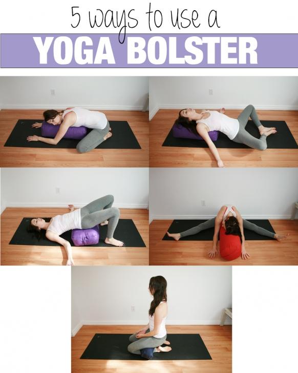 best restorative yoga poses bolster images