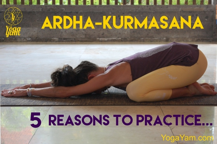 best yoga poses ardha kurmasana benefits image