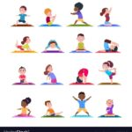 Best Yoga Poses Cartoon Pictures