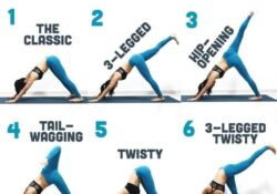 best yoga poses downward facing dog variations photo