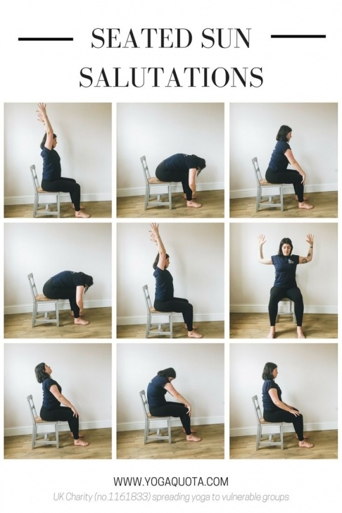 best yoga poses sun salutation in a chair image