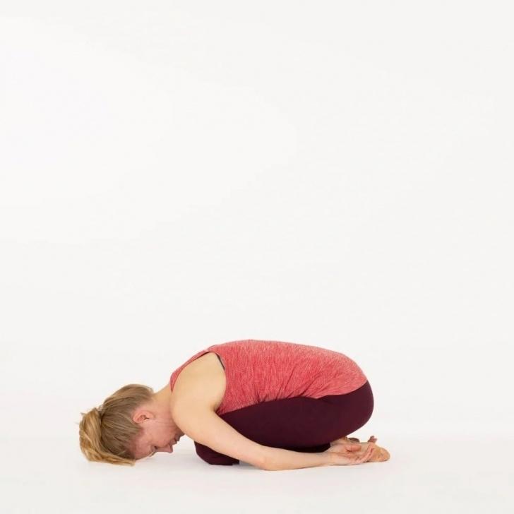 easy balasana yoga pose image