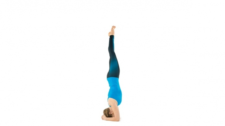 easy headstand yoga name picture