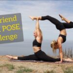 Easy Partner Yoga Poses Challenge Photo