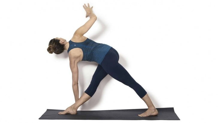 easy triangle pose modifications pictures