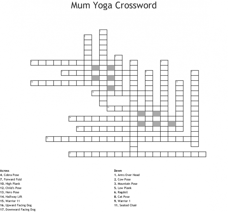 easy yoga pose similar to upward facing dog crossword photo