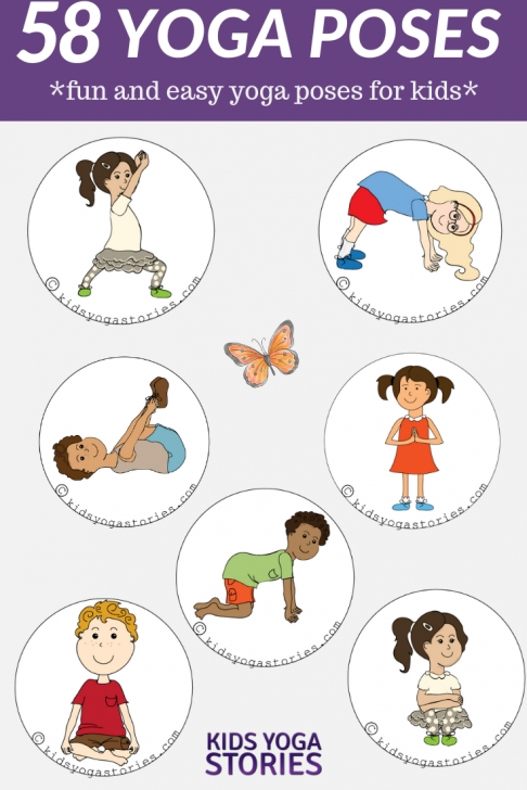 easy yoga poses for kids with names pictures