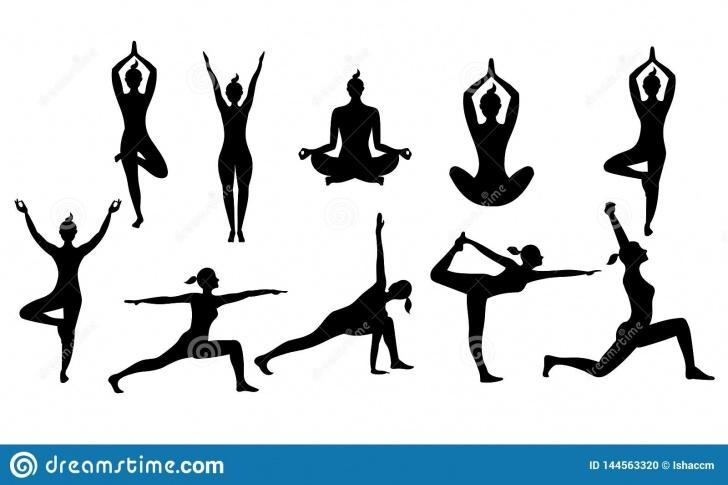 easy yoga poses vector photos