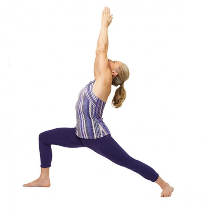 easy yoga poses warrior image