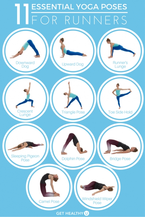 essential yoga stretches runners images