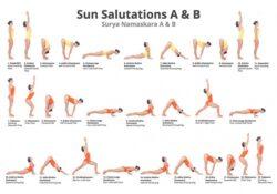 fun and easy sun salutation postures photos