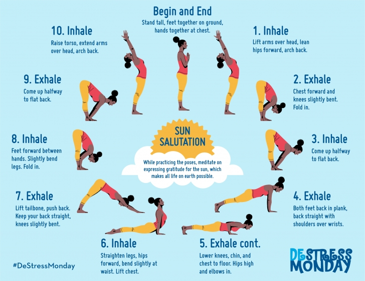 fun and easy sun salutation yoga routine photos