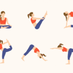 Fun And Easy Yoga Poses Illustration Photos