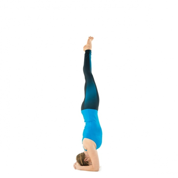 fun and easy yoga poses just mobile headstand image