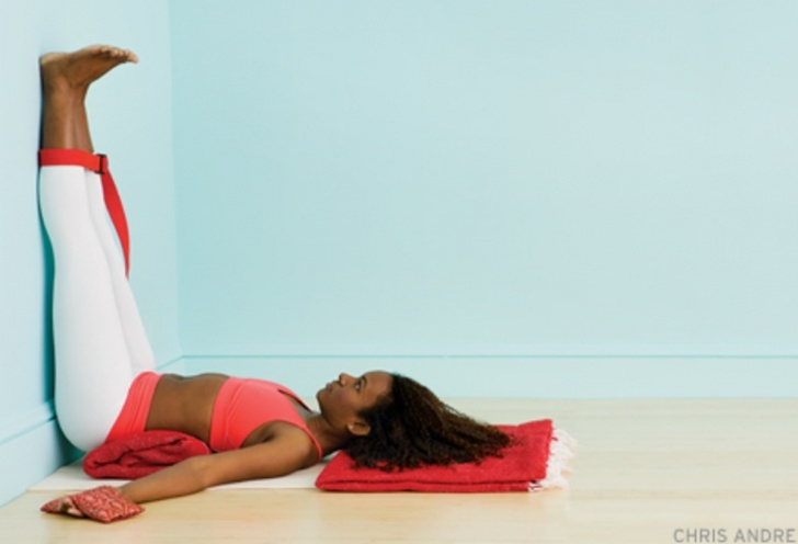 fun and easy yoga poses legs up the wall before bed photo