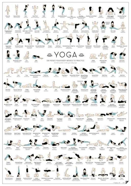 fun and easy yoga positions poster photos