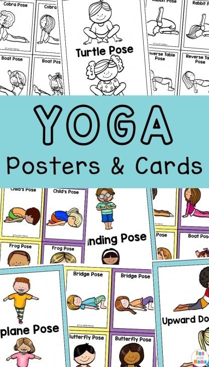 fun and easy yoga sequence cards photos