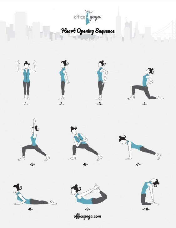 fun and easy yoga sequence heart opening images