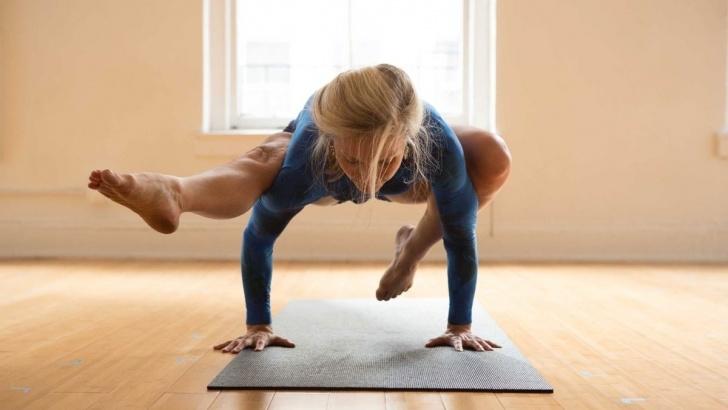 guide of yoga poses eka pada bakasana photo