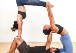 guide of yoga poses for three photo