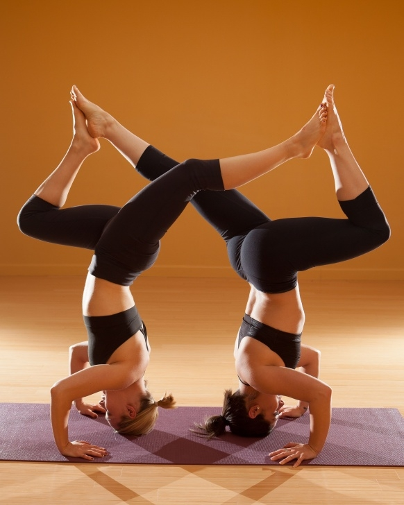 guide of yoga poses met 2 photos