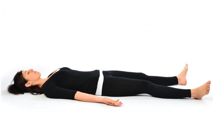 guide of yoga poses savasana in english photo