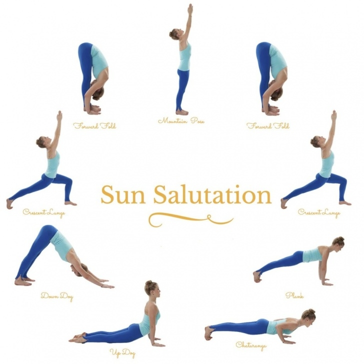 guide of yoga poses sun salutation images photo