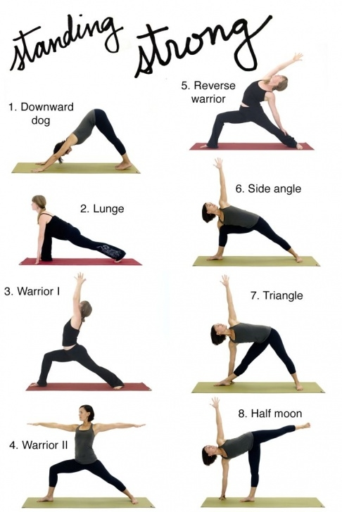 most common standing yoga poses beginners images