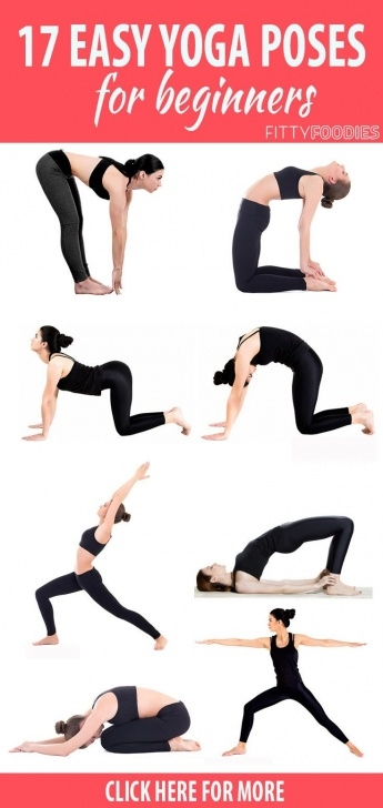 most common yoga poses for beginners at home images