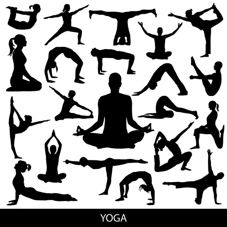 most important yoga pose vector photo