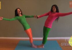 most important yoga poses for 2 kids photos