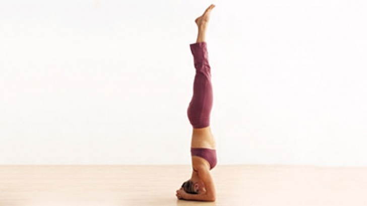 most important yoga poses headstand on wall images