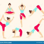 Most Important Yoga Poses Vector Image
