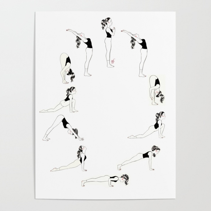must know sun salutation poster picture