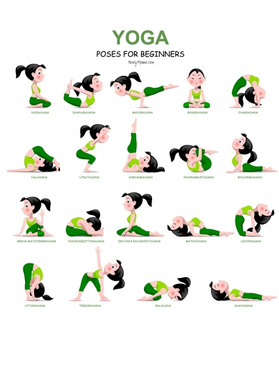 must know yoga poses printable pictures