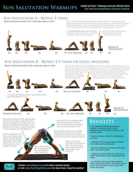 must know yoga poses sun salutation sequence chart photos